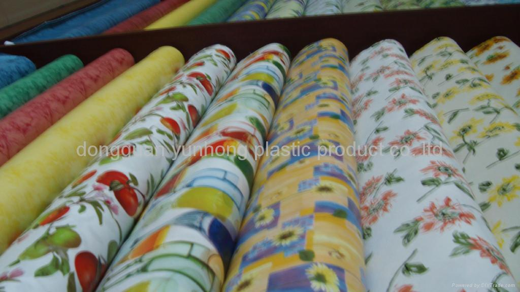 Vinyl pvc with non woven tablecloth roll various yh for Y h furniture trading