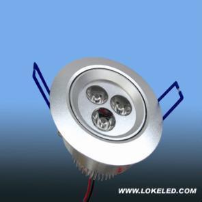 led天花燈3*1w 1