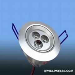 led天花燈3*1w
