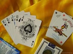 高防BEE小蜜蜂黑芯撲克牌