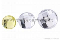 台湾压克力钻,圆形地球面压克力钻