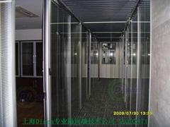 双层玻璃夹百叶帘隔断