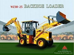WZ30-25 backhoe loader (engine:LuoTuo LR4108 or CUMMINS)