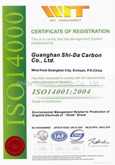 ISO14001 Certificate for Enviromental Management