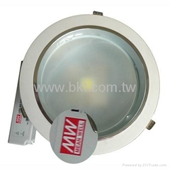 24W COB LED Dimmable Down Light with Mean Well Power Supply