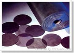 plain steel wire cloth/black wire cloth/black wire mesh/mesh/iron mesh/wire clot