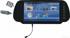 7-inch Rear-view Mirror Monitor with 32-bit Games, and Wireless Game Controller