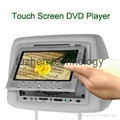 car headrest dvd player with 32bit&8bit wireless game