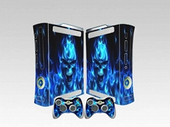 xbox360 skin sticker with two controller skins