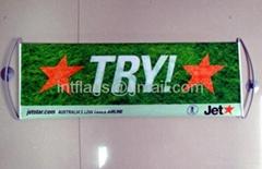 Fan banner roller