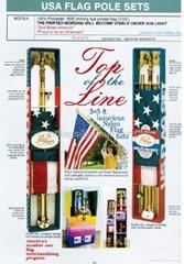 Flag pole sets