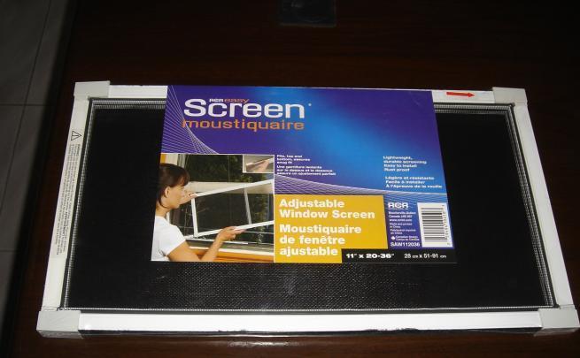 ... Adjustable Window Screen 3 ...