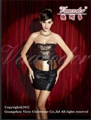 contrast color corset an