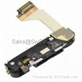 Wholesale for iphone 4g 4 charging port assembly part with flex cable