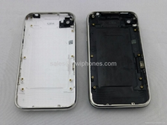 for Apple iPhone 3G 3GS 8GB 16GB Back Cover housing with Chrome Bezel Assembly