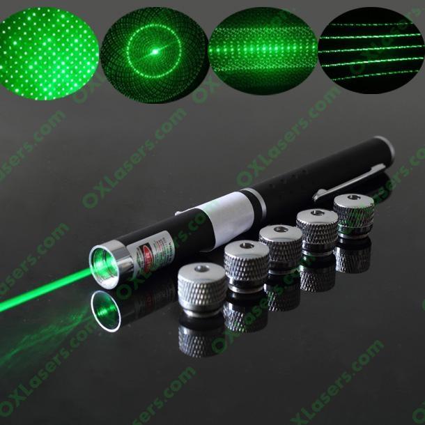 50mw 5 In 1 Green Laser Pointer Laser Pen Star Pointer