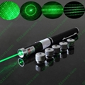 50mw 5-in-1 green laser pointer /laser pen/star pointer Free shipping