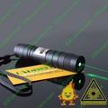 50mw hand-held green laser flashlight pointer with a focusable lens POP BALLOON