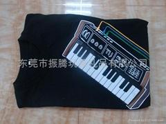 电子钢琴音乐T恤