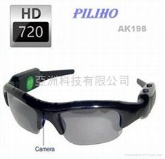 霹靂火~AK198休閒眼鏡行車記錄器(四合一)