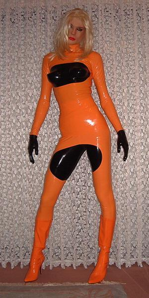 Latex rubber catsuit latex catsuit club wear party wear 4