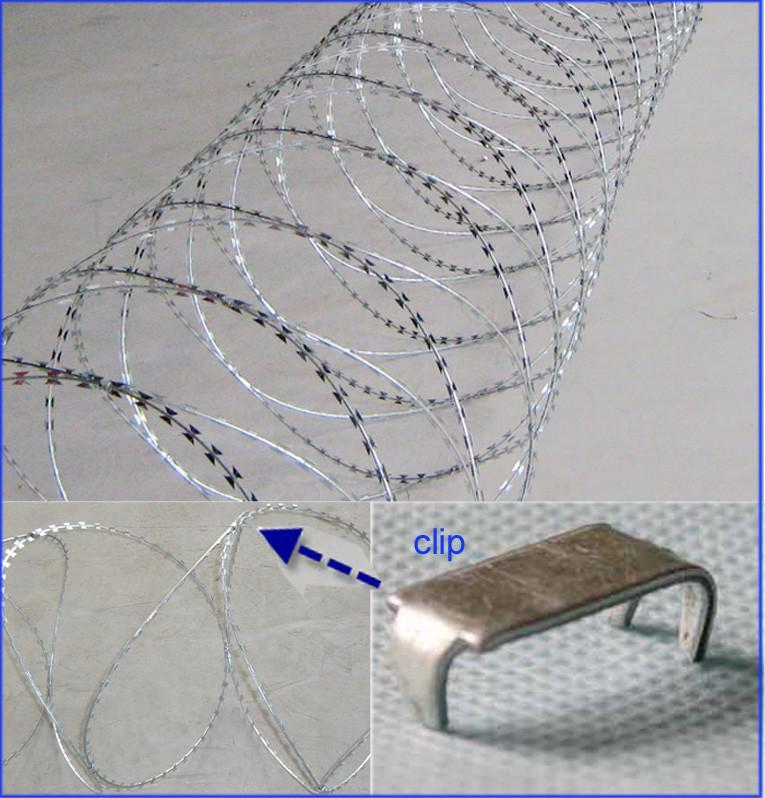 Concertina Barbed Wire Of Razor Blade Bto18 Bto22 Cbt65
