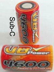 Sub-C Battery Used for RC Car
