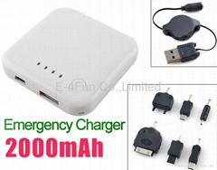 Portable Emergency Charger Battery Backup for iPhone iPod NOKIA