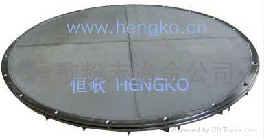 Metal sintering felt filter plate 5