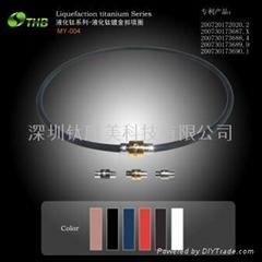 液化钛镀金扣项圈