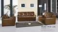 Traditional leather sofa OCS-L25
