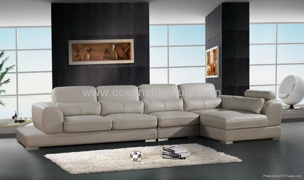 L Shape Leather Sofa Ocs 118