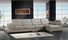 L shape leather sofa OCS-118