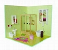 Mini bathroom set