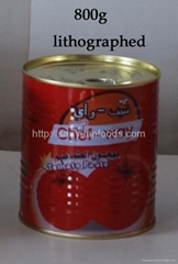 tinned tomato paste-high quality