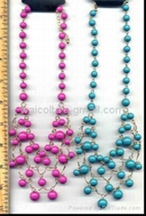 Acrylce beads,steel chains