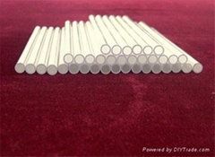 milky white quartz glass tube