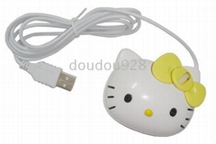 3 buttons optical cartoon optical mouse with blue light whee