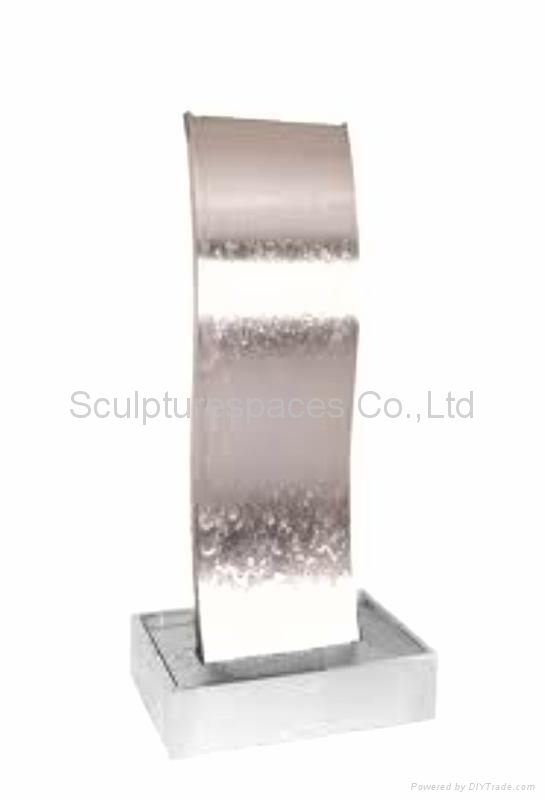 stainless steel water feature 1