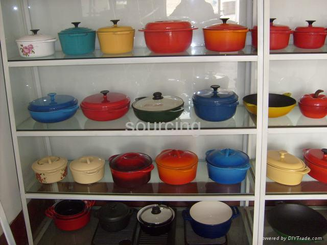 cast iron enamel cookware