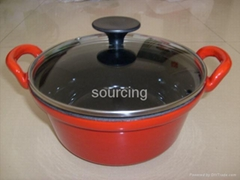 cookpot with glass cover cocotte