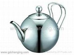 stainless steel teapot with strainer