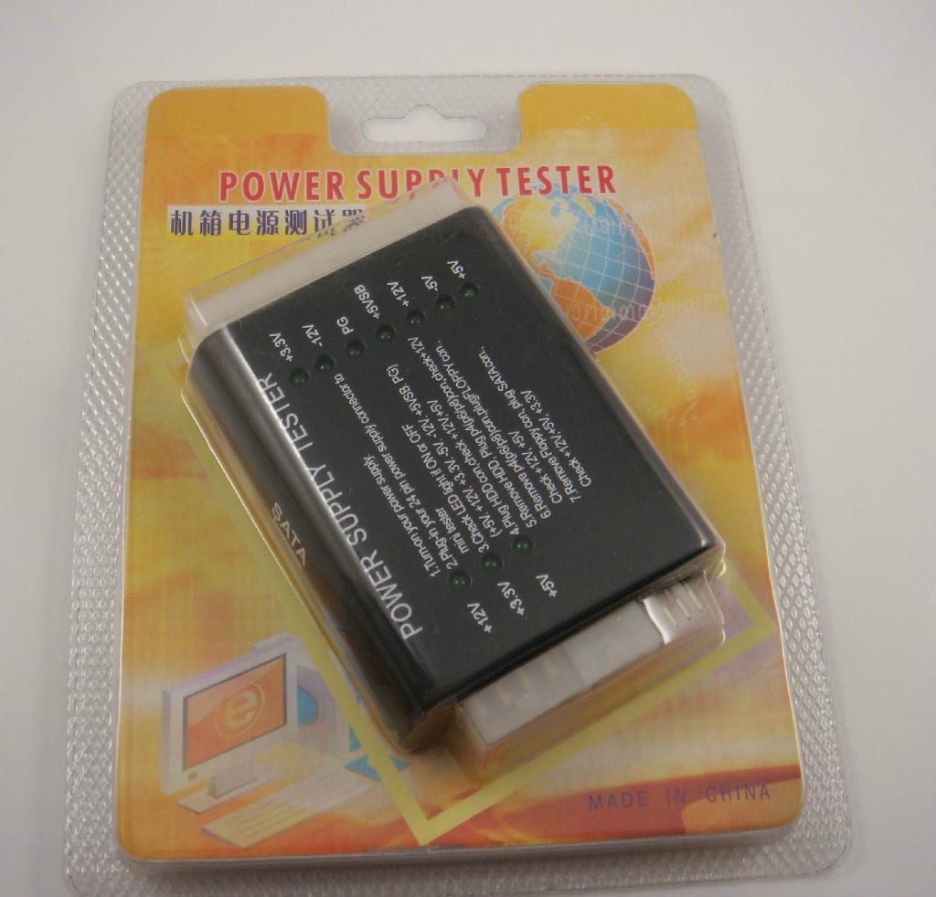 24 20 pin PSU ATX BTX ITX SATA PC Power Supply Tester 3