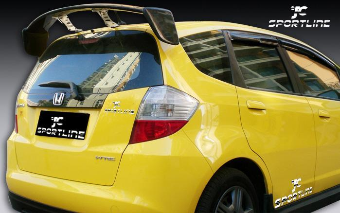 Mugen Carbon GT Spoiler/rear wing/ spoiler wing For Honda Fit/Jazz Hatch