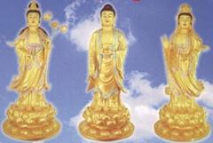 Mahasthamaprapta, Amitabha, Avalokitesvara