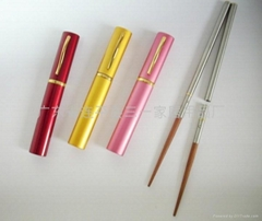 直插式(插削式)不鏽鋼紅木禮品筷子