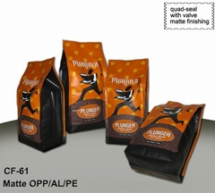Quad-sealing Coffee Pouch