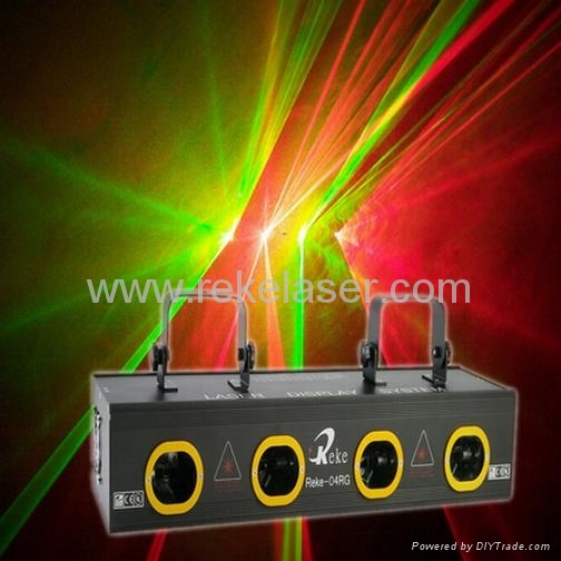 Four Lens Double Rg Or Four Colors Motor Beam Laser