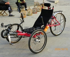 三轮躺式自行车