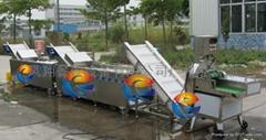 葉類蔬菜切割清洗生產線成套設備